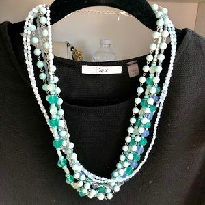 Lia Sophia Necklace - Multiple Beaded